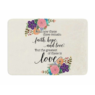 Faith, Hope, and Love by Noonday Design Memory Foam Bath Mat