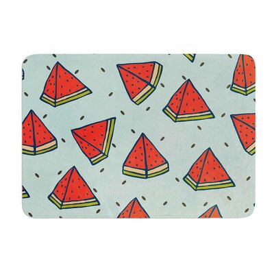 Watermelon Pattern Summer Love by Strawberry Memory Foam Bath Mat