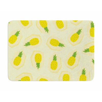 Pineapple Pattern by Strawberry Memory Foam Bath Mat