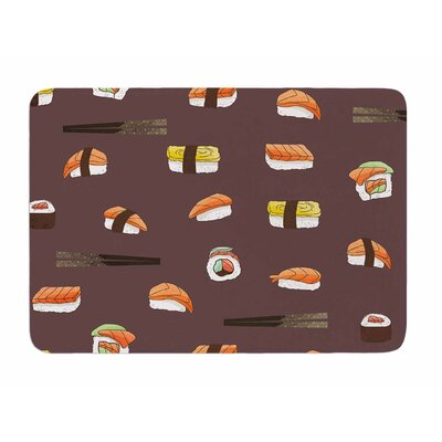 Sushi Pattern by Strawberry Memory Foam Bath Mat