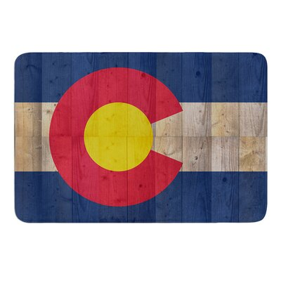 Flag of Colorado by Bruce Stanfield Memory Foam Bath Mat