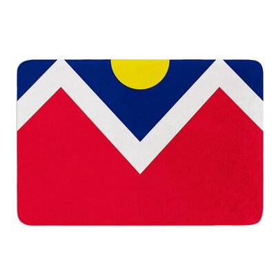 Denver Colorado City Flag by Bruce Stanfield Memory Foam Bath Mat