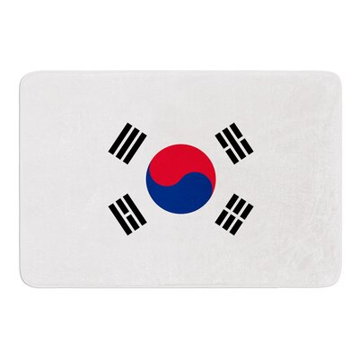 Flag of Korea by Bruce Stanfield Memory Foam Bath Mat