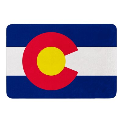 Flag of Colorado II by Bruce Stanfield Memory Foam Bath Mat