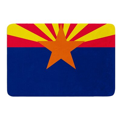 Flag of Arizona by Bruce Stanfield Memory Foam Bath Mat