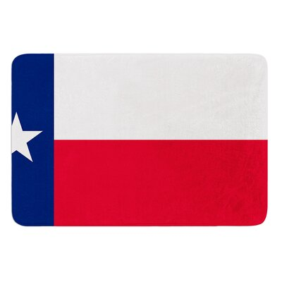 Flag of Texas by Bruce Stanfield Memory Foam Bath Mat