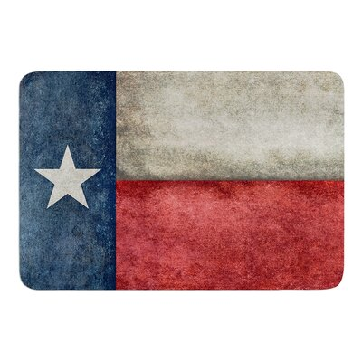 Texas State Flag by Bruce Stanfield Memory Foam Bath Mat