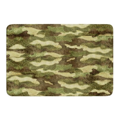 Dirty Camo by Bruce Stanfield Memory Foam Bath Mat