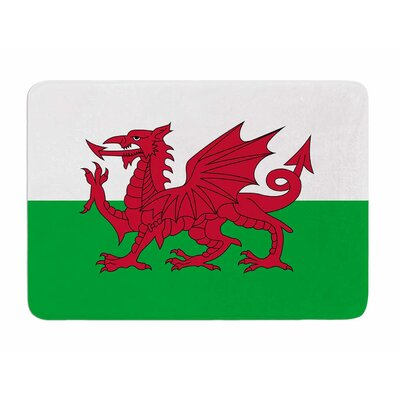 Flag of Wales - Authentic by Bruce Stanfield Memory Foam Bath Mat