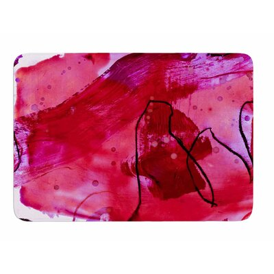 Abstract by Iris Lehnhardt Memory Foam Bath Mat