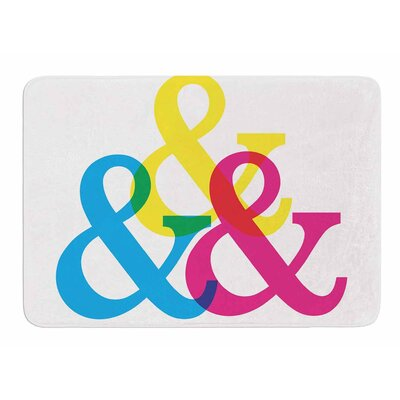 CYMK Ampersands by Jackie Rose Memory Foam Bath Mat