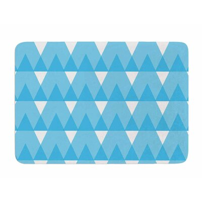 Cyan Triangles by Jackie Rose Memory Foam Bath Mat