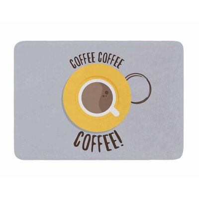 Coffee! by Jackie Rose Memory Foam Bath Mat