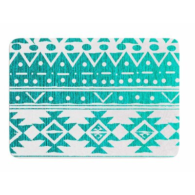 Aquamarine Tribal by Nika Martinez Memory Foam Bath Mat