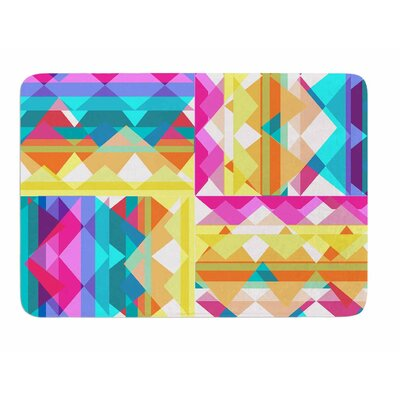 Triangle Checker by Miranda Mol Memory Foam Bath Mat