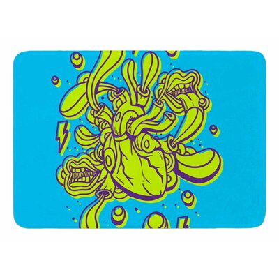Doodle Surreal Heart by Robber Memory Foam Bath Mat