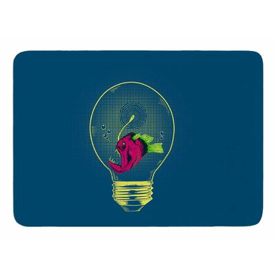Angler fish Bulb by Banjarmasin Memory Foam Bath Mat