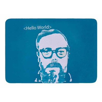 Hello World by Theresa Etiologic Memory Foam Bath Mat