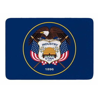 Utah State Flag Authentic by Bruce Stanfield Memory Foam Bath Mat