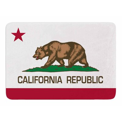 California State Flag by Bruce Stanfield Memory Foam Bath Mat
