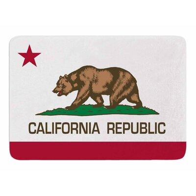 California State Flag by Bruce Stanfield Memory Foam Bath Mat