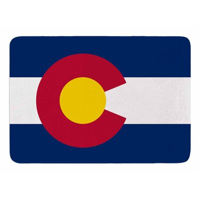 Colorado State Flag by Bruce Stanfield Memory Foam Bath Mat