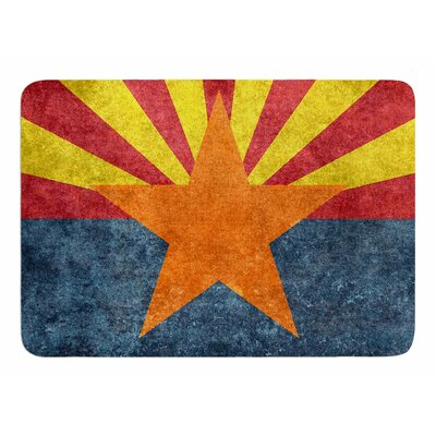 Arizona State Flag Retro Style by Bruce Stanfield Memory Foam Bath Mat