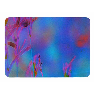 Painterly Foliage Series 2 by Malia Shields Memory Foam Bath Mat