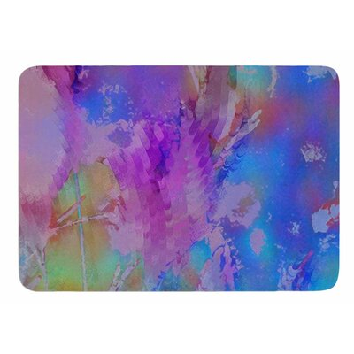Painterly Foliage Series 3 by Malia Shields Memory Foam Bath Mat