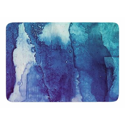 Blues Abstract Series 1 by Malia Shields Memory Foam Bath Mat