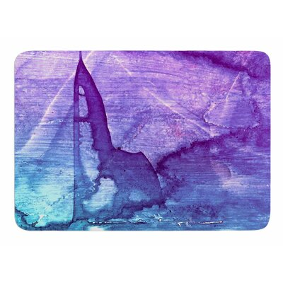 Blues Abstract Series 2 by Malia Shields Memory Foam Bath Mat