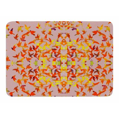Flying Birds by Marianna Tankelevich Memory Foam Bath Mat