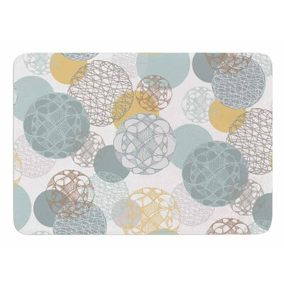 Floating Circles Design by Maike Thoma Memory Foam Bath Mat