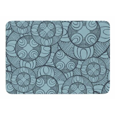 Layered Circles Design by Maike Thoma Memory Foam Bath Mat