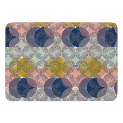 Retro Spring by Maike Thoma Memory Foam Bath Mat