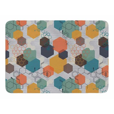 Biomolecular by Maike Thoma Memory Foam Bath Mat