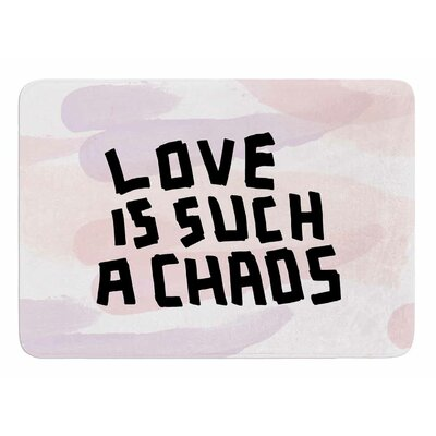 Love is Such A Chaos by Vascular Nat Memory Foam Bath Mat