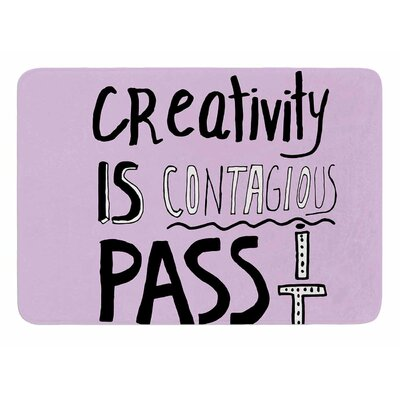 Creativity is Contagious by Vascular Nat Memory Foam Bath Mat