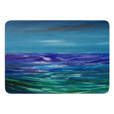 Moonlit Waves by Cyndi Steen Memory Foam Bath Mat