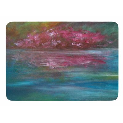 Boungainvillea Reflections by Cyndi Steen Memory Foam Bath Mat