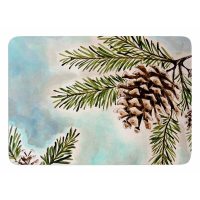 Pinecones and Sky by Christen Treat Memory Foam Bath Mat