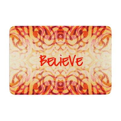 Tribal Believer by Alveron Memory Foam Bath Mat Size: 24 W x 36 L