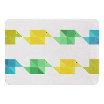 Duck Pattern by Cvetelina Todorova Memory Foam Bath Mat