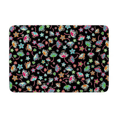 Sweet Flowers by Julia Grifol Memory Foam Bath Mat Size: 17 W x 24 L