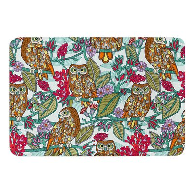 My Bookbooks Owls on by Julia Grifol Memory Foam Bath Mat