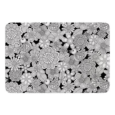 Welcome White Birds by Julia Grifol Memory Foam Bath Mat