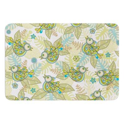 Summer Birds by Julia Grifol Memory Foam Bath Mat