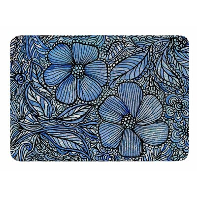 Flowers in My Garden by Julia Grifol Memory Foam Bath Mat
