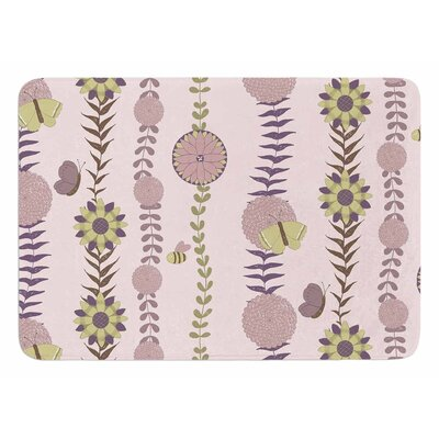 Flower by Judith Loske Memory Foam Bath Mat