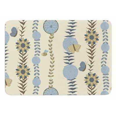 Flower Garden by Judith Loske Memory Foam Bath Mat